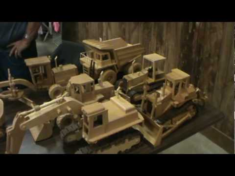 Wooden Equipment and trucks- Deming log show - YouTube