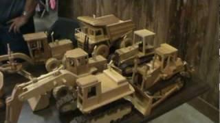 Wooden Equipment and trucks- Deming log show