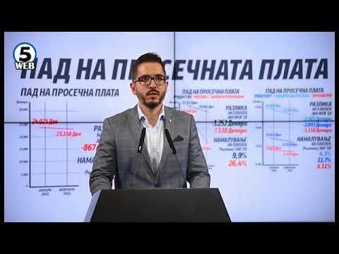 ВМРО-ДПМНЕ: Платите на граѓаните се намалуваат