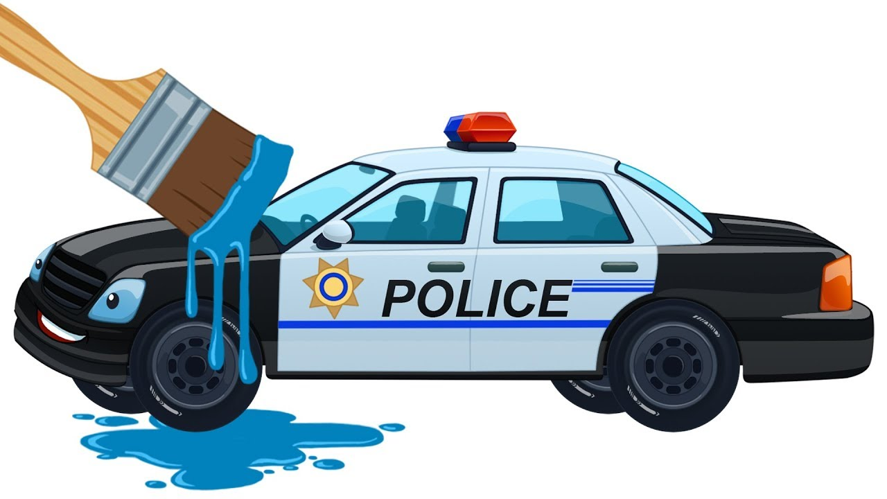 Learn Colors With Cars Kids Police Car Coloring Book