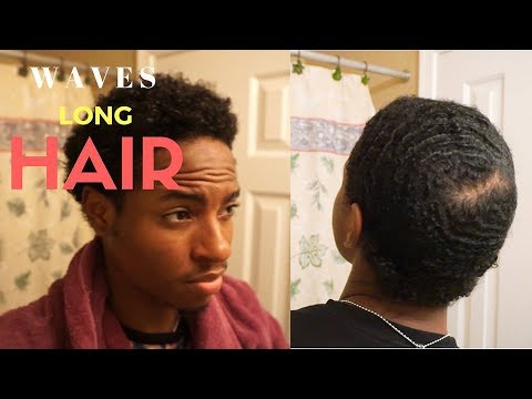 How To Get Waves With Curly Long Hair Method Youtube