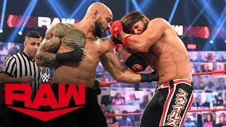 Ricochet vs. AJ Styles – Money in the Bank Qualifying Match: Raw, June 21, 2021