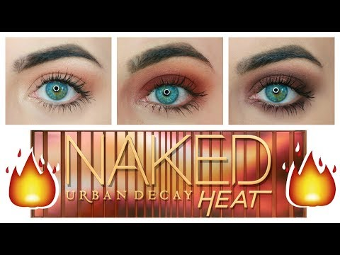 Urban Decay Naked Heat Tutorial   3 Looks 1 Palette