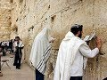 A Jewish prayer at the Western Wall (Wailing Wall), Jerusalem Israel