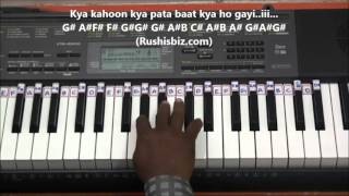 Chand Ne Kuch Kaha - Piano Tutorials (Dil tho Pagal Hai)