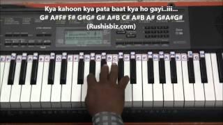 Chand Ne Kuch Kaha - Piano Tutorials (Dil tho Pagal Hai)