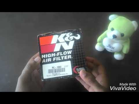 UNBOXING - K&N 1060 AIR FILTER user guide.