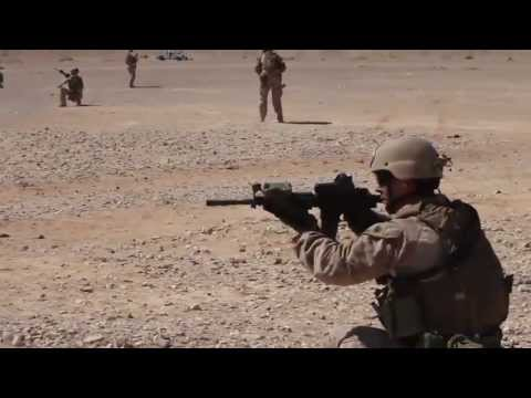 U.S. Marines Conduct Immediate Action and Bounding Drills in Jordan!