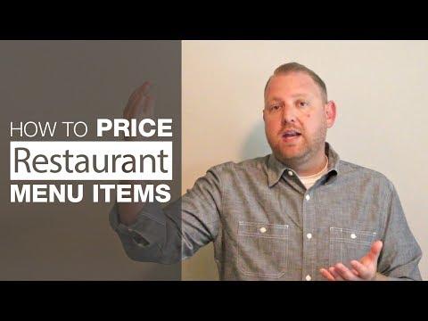 How to Price Restaurant Menu Items