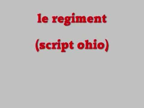 le regiment (script ohio)