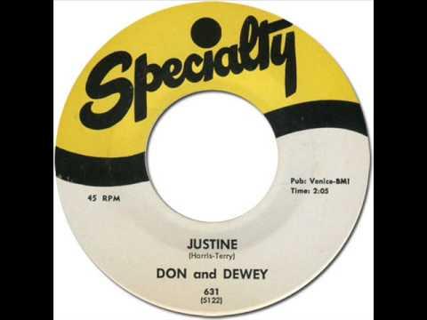DON & DEWEY - JUSTINE [Specialty 631] 1958