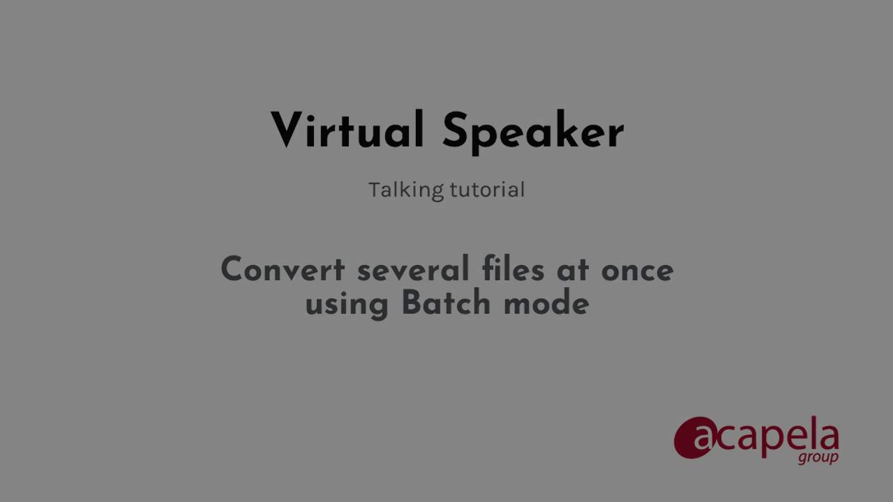 Acapela Group » Virtual Speaker