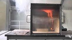 Rollover, Flashover and Backdraft in fire simulator. (Brandverloop)