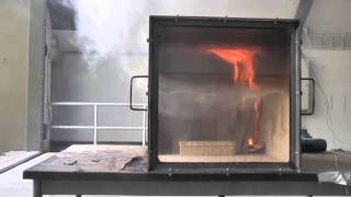 Rollover, Flashover and Backdraft in fire simulator. (Brandverloop)