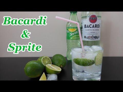 Bacardi & Sprite Cocktail - Refreshing Summer Drink