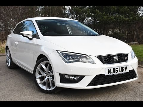 used seat leon 1 4 ecotsi 150 fr 3dr technology pack white 2016 youtube. Black Bedroom Furniture Sets. Home Design Ideas