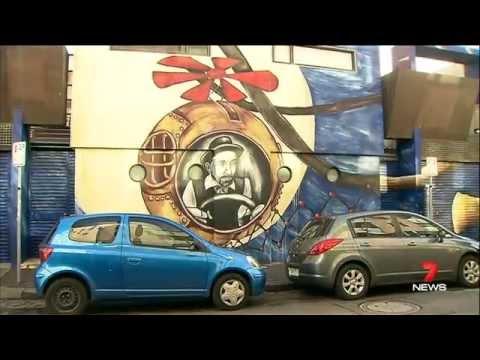 7 News south yarra council graffiti legals 19/5/15