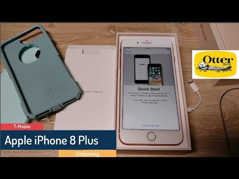 finest selection 52a6a e3e38 Gold Apple iPhone 8 Plus unboxing - Ocean Way Otterbox Commuter Series