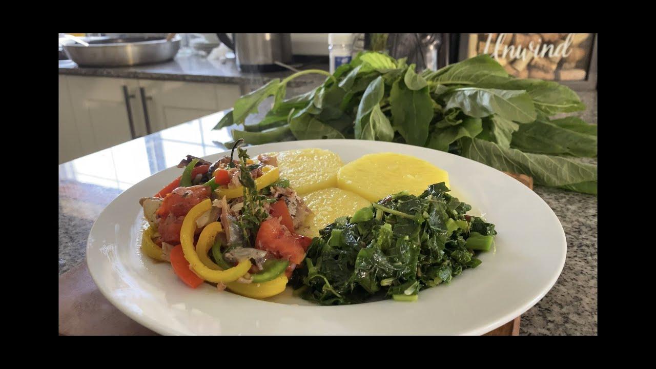 jamaican breakfast  salt mackerel and yellow yam