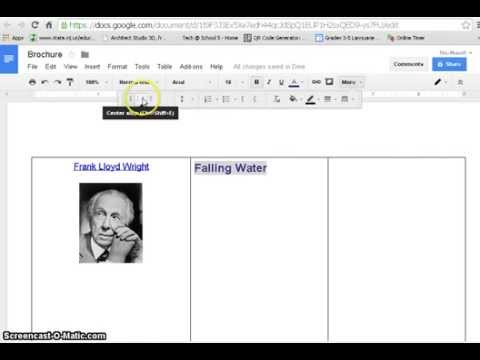 how to create brochure with google docs youtube
