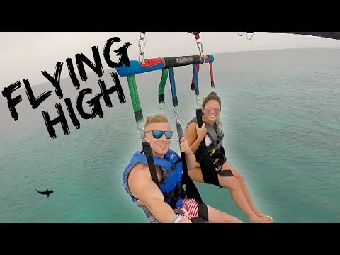 PARASAILING OVER THE CARIBBEAN // Couples Travel Video // Aruba Vlog 4