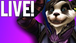 BFA LEVELING PRIEST WITH PVP! (PATCH 8.1 TOMORROW) - WoW: Battle For Azeroth (Livestream)