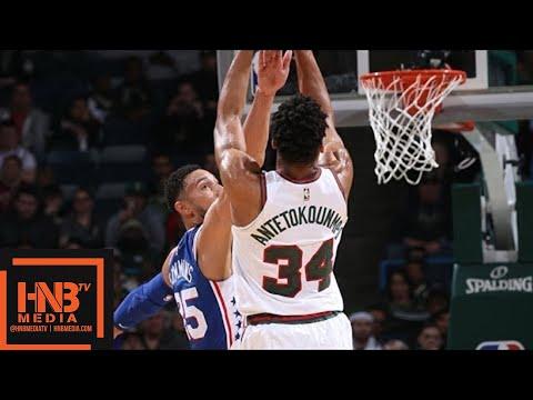 Philadelphia Sixers vs Milwaukee Bucks Full Game Highlights / March 4 / 2017-18 NBA Season
