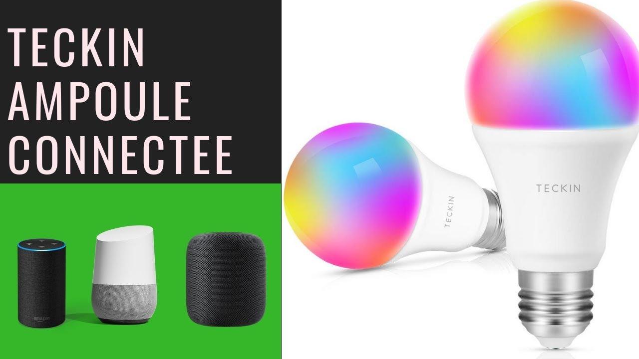 ampoule connect e pas cher teckin smart bulb compatible. Black Bedroom Furniture Sets. Home Design Ideas