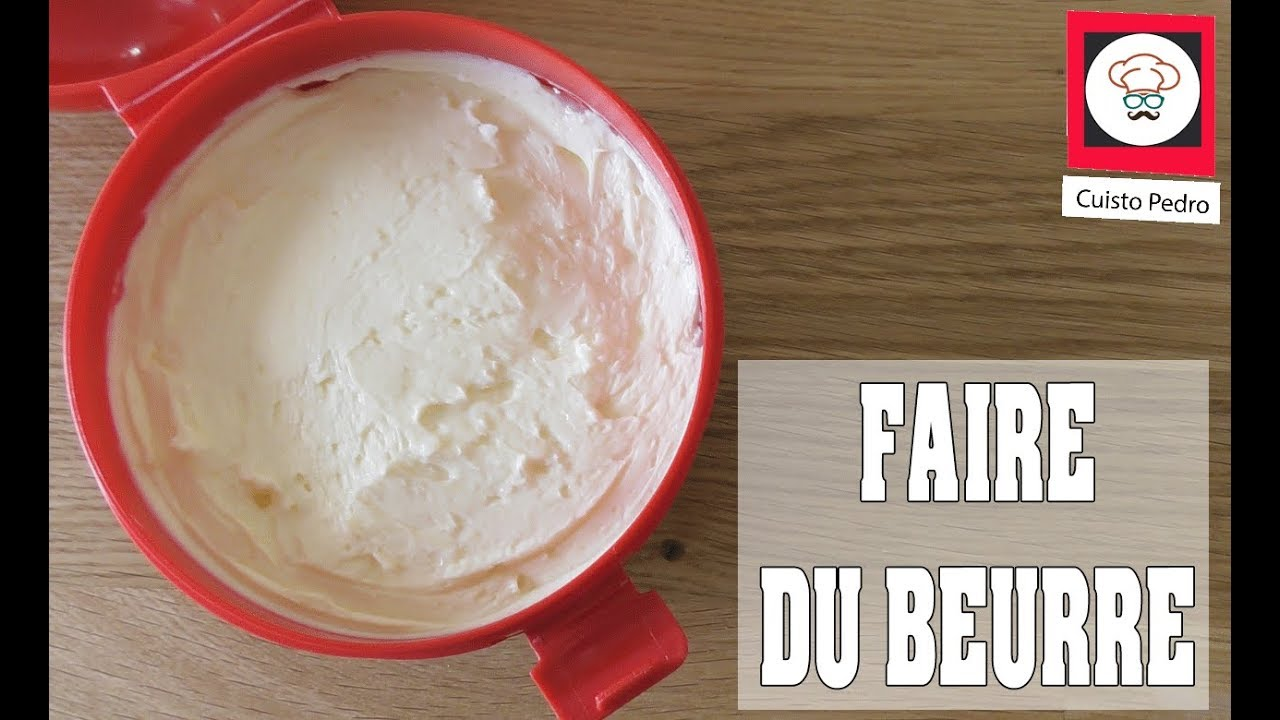 recette du beurre au thermomix tm5 youtube. Black Bedroom Furniture Sets. Home Design Ideas