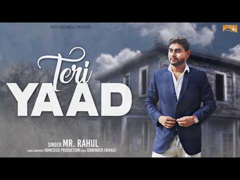 Teri Yaad (Audio Poster) Mr.Rahul | White Hill Music | Releasing on 18th July