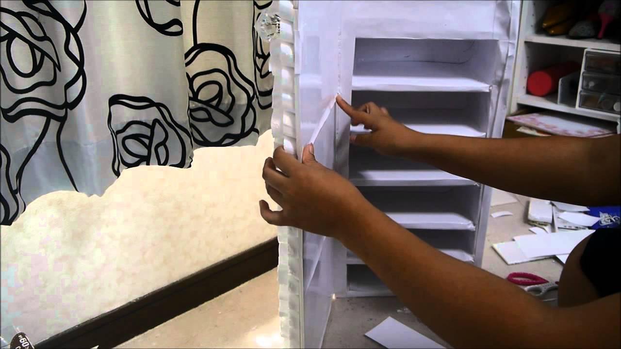 Manualidades organizador con espejo juancarlos960 youtube - Manualidades con cajas de madera ...