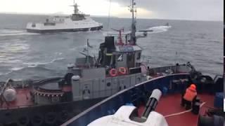 Без цензуры: Оригинальное HD-видео инцидента буксира ВМФ Украины с Береговой охраной ФСБ РФ.