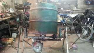 Самодельная бетономешалка concrete mixer  своими руками  СБОРКА