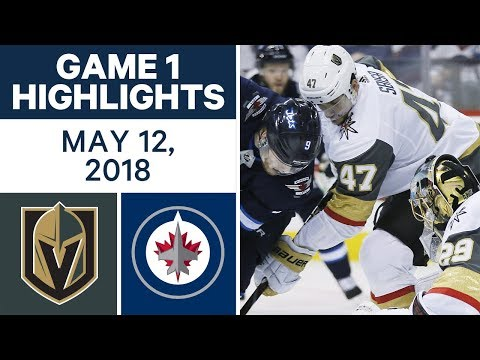 NHL Highlights | Golden Knights vs. Jets, Game 1 - May 12, 2018