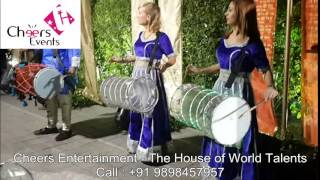 International Dhol Players Band Female Male Foreigners Punjabi Delhi Mumbai Goa Wedding India