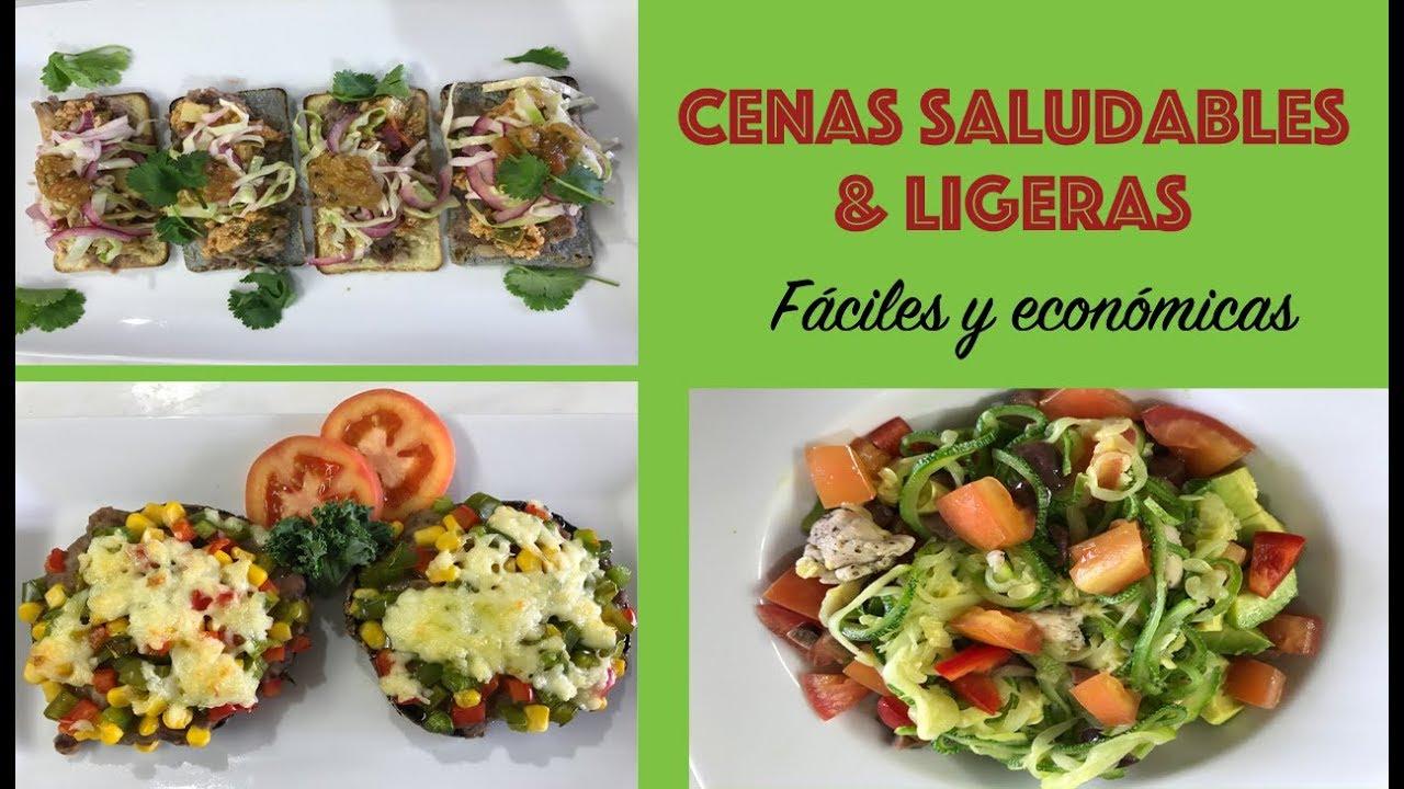 Cenas saludables f ciles y econ micas youtube - Cenas saludables para bajar de peso ...