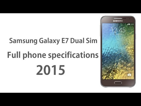 Samsung Galaxy E7 - Full phone specifications 2015