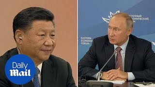 Xi Jinping and Vladimir Putin open Eastern Economic Forum talks