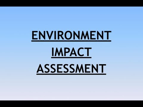 Environment and Ecology Lecture 5 - Environment Impact Assessment
