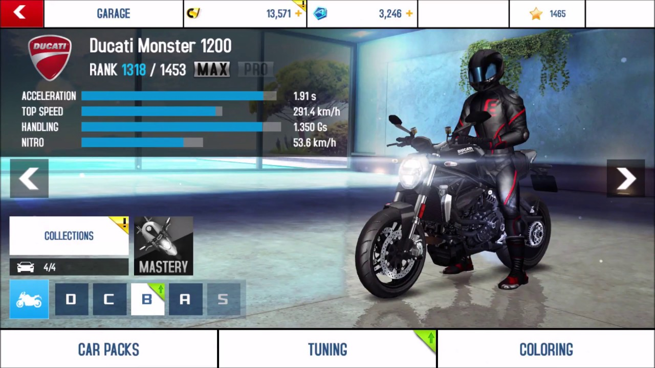 Asphalt 8 Ducati Monster 1200 Upgrades Max Youtube