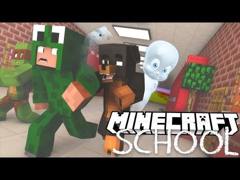 Minecraft School - THE SCHOOL IS HAUNTED! w/ Little Lizard