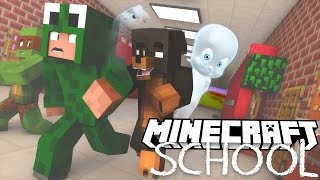 Minecraft School - THE SCHOOL IS HAUNTED! w/ Little Lizard