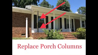 replace porch columns porch posts porch columns use post jack diy how to remove and replace