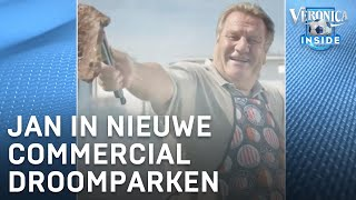Jan Boskamp schittert in nieuwe reclame. Wilfred Genee is enthousiast.