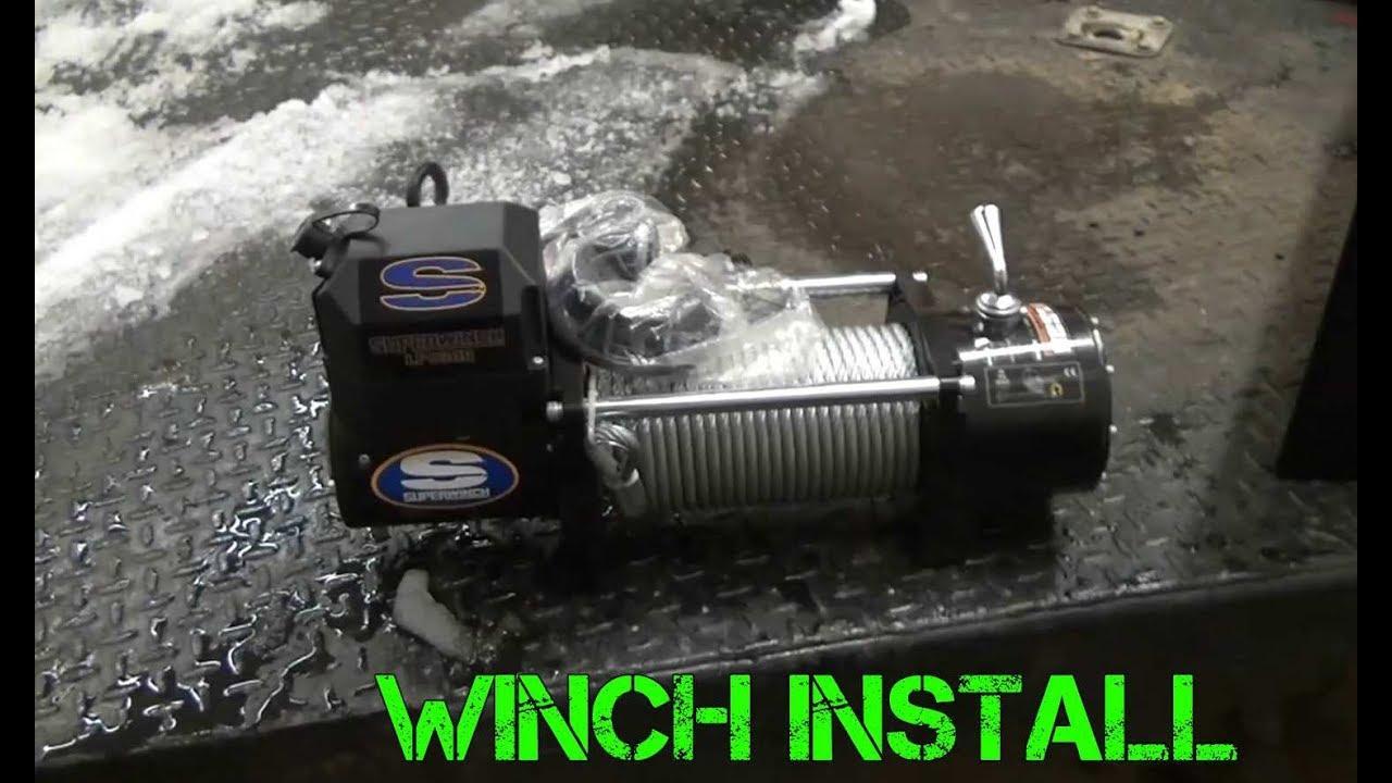 Installing A Winch On Car Trailer Youtube Warn 12000 Wiring Diagram