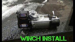 Installing A Winch On A Car Trailer
