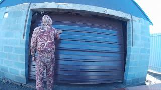 видео подъемные ворота гаражные