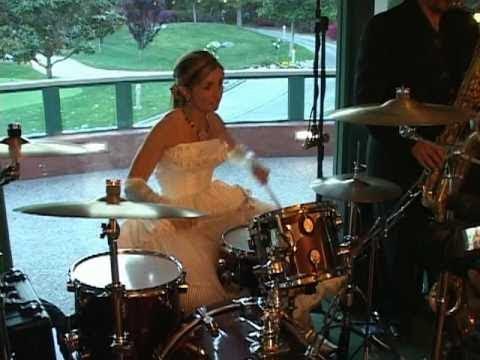 Scotty Davis - Bride Does Superb Drum Solo In Her Wedding Dress