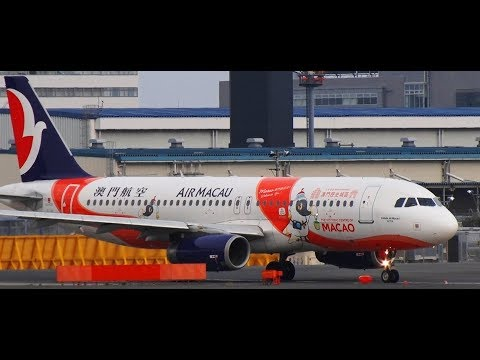 ✈✈「Macao Creative City of Gastronomy」 (Air Macau) Airbus A320-232 B-MCI Take-off!!Narita RWY16R 成田空港
