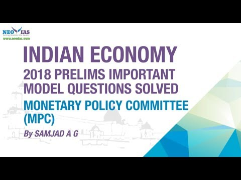 MONETARY POLICY COMMITTEE (MPC) | PRELIMS IMPORTANT MODEL QUESTION SOLVED | ECONOMY GURU